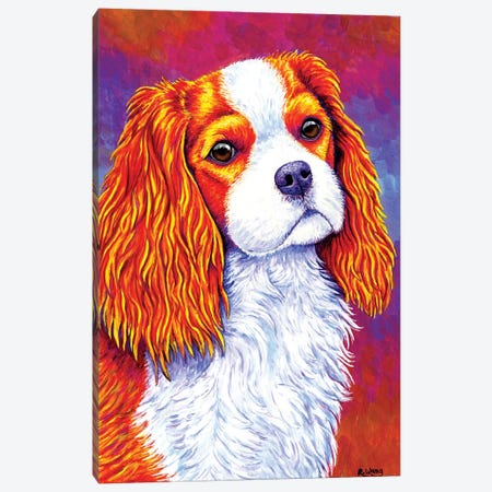 Autumn Delight - Cavalier King Charles Spaniel Canvas Print #RBW2} by Rebecca Wang Art Print