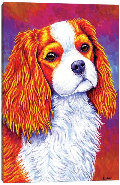 Autumn Delight - Cavalier King Charles Spaniel by Rebecca Wang Canvas Art Print