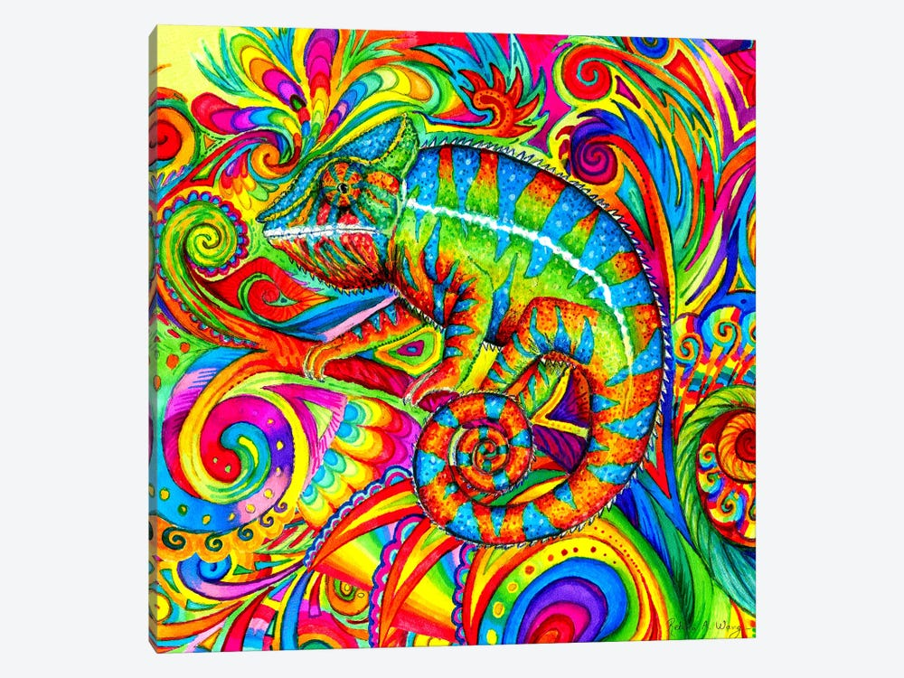 Psychedelizard by Rebecca Wang 1-piece Canvas Art
