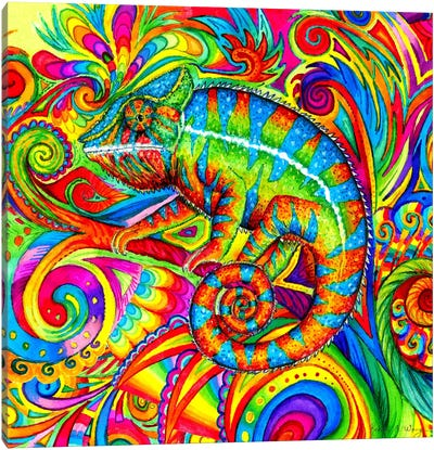Psychedelizard by Rebecca Wang Canvas Art Print