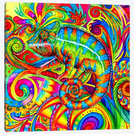Psychedelizard Canvas Print #RBW30} by Rebecca Wang Canvas Art