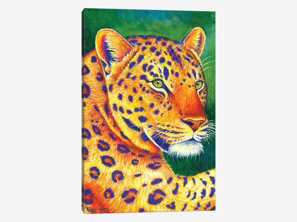 Queen of the Jungle - Leopard by Rebecca Wang 1-piece Canvas Print