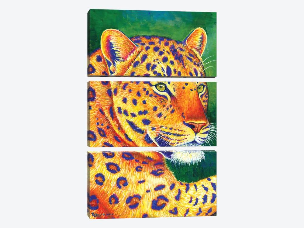 Queen of the Jungle - Leopard by Rebecca Wang 3-piece Art Print