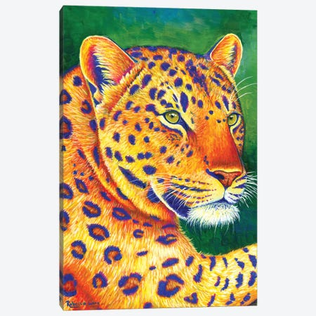 Queen of the Jungle - Leopard Canvas Print #RBW31} by Rebecca Wang Canvas Artwork
