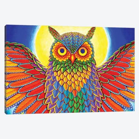 Rainbow Owl Canvas Print #RBW32} by Rebecca Wang Canvas Art
