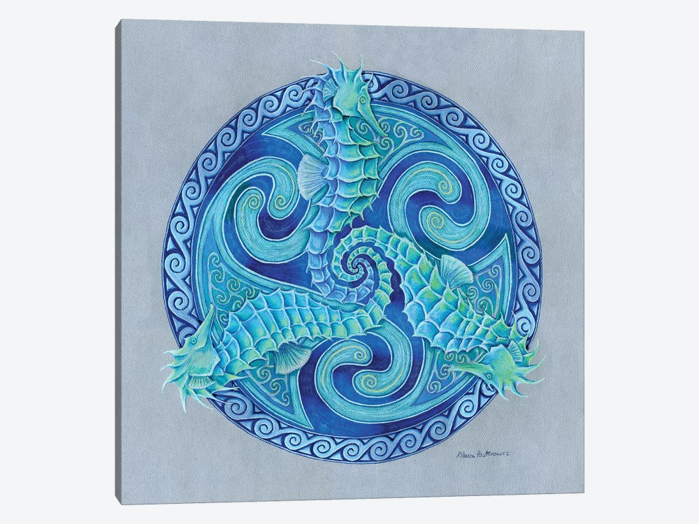 Seahorse Triskele by Rebecca Wang 1-piece Art Print