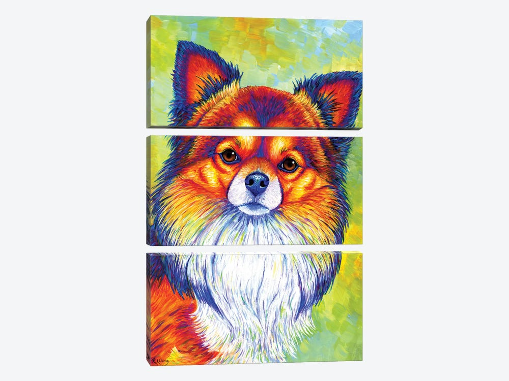 Small and Sassy - Chihuahua by Rebecca Wang 3-piece Canvas Art