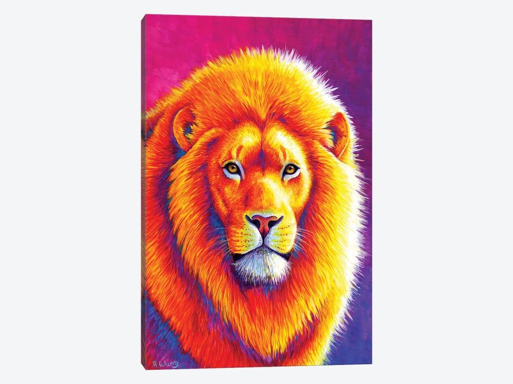 Sunset on the Savanna African Lion by Rebecca Wang 1-piece Art Print