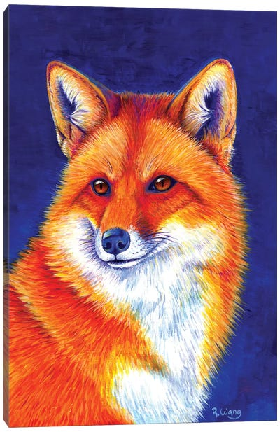 Vibrant Flame - Red Fox Canvas Art Print
