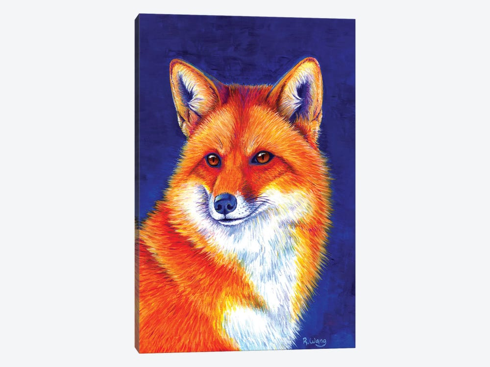 Vibrant Flame - Red Fox by Rebecca Wang 1-piece Canvas Art Print