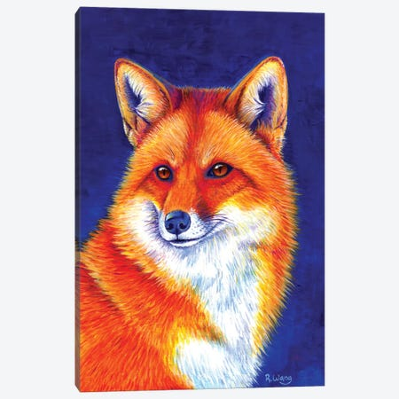 Vibrant Flame - Red Fox 3-Piece Canvas #RBW37} by Rebecca Wang Art Print