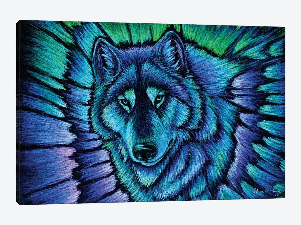 Wolf Aurora by Rebecca Wang 1-piece Art Print