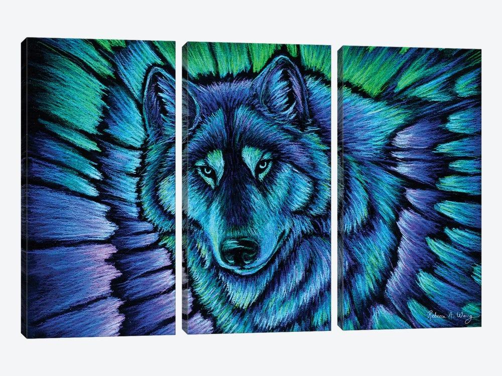 Wolf Aurora by Rebecca Wang 3-piece Art Print