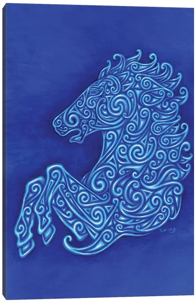 Celtic Horse by Rebecca Wang Canvas Art Print