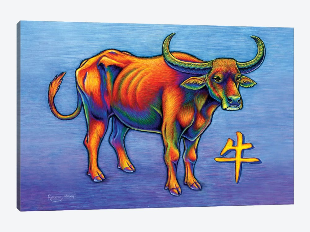 Year of the Ox by Rebecca Wang 1-piece Canvas Art Print