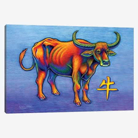 Year of the Ox Canvas Print #RBW40} by Rebecca Wang Canvas Print