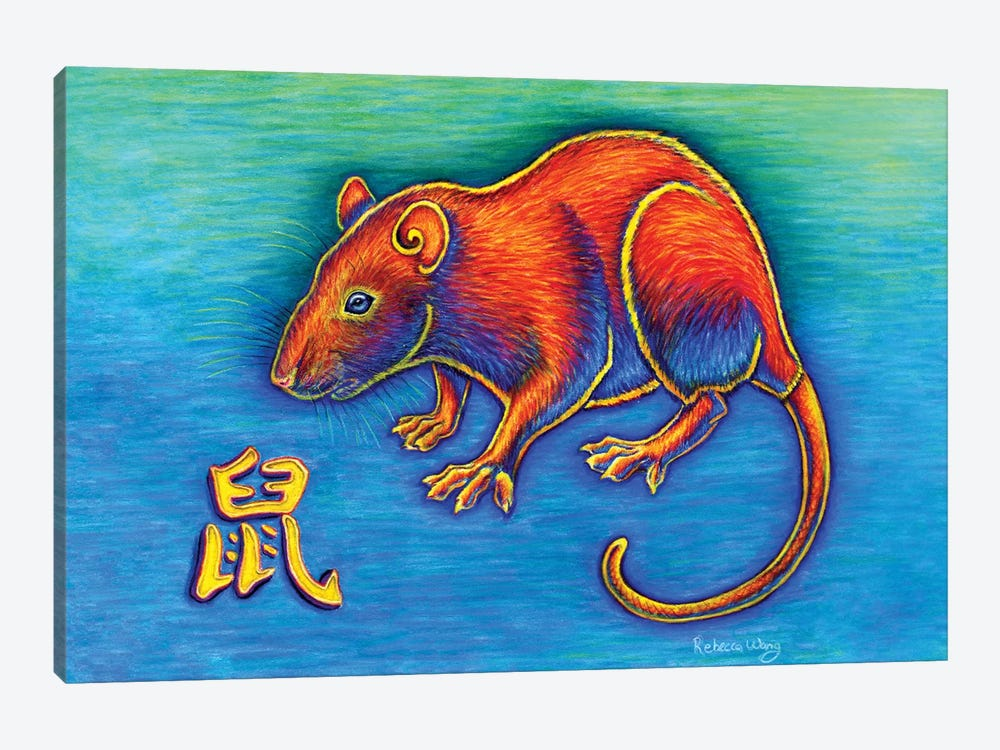 Year of the Rat by Rebecca Wang 1-piece Canvas Wall Art