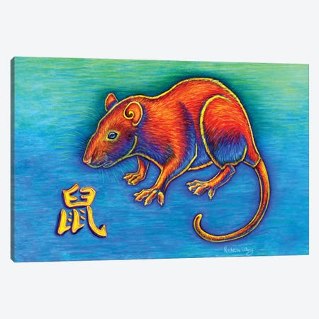 Year of the Rat Canvas Print #RBW41} by Rebecca Wang Canvas Print