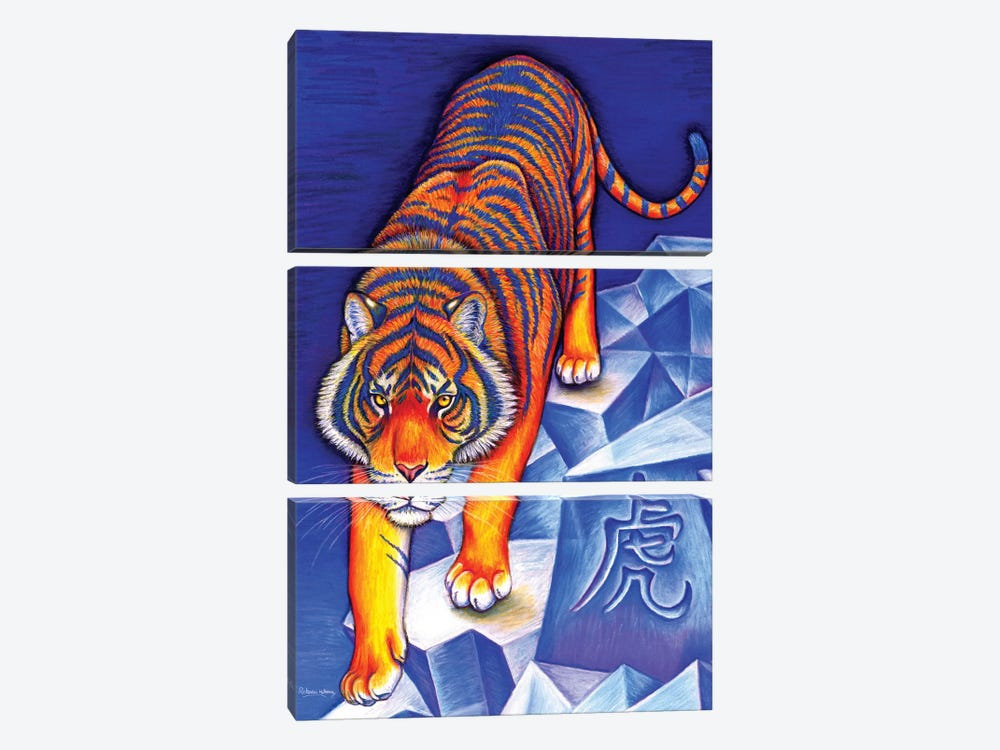 Year of the Tiger by Rebecca Wang 3-piece Canvas Art Print
