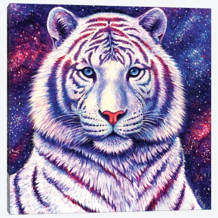 Among the Stars - Galaxy Tiger Canvas Print #RBW43} by Rebecca Wang Canvas Print