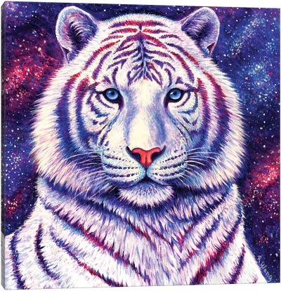 Among the Stars - Galaxy Tiger by Rebecca Wang Canvas Art Print