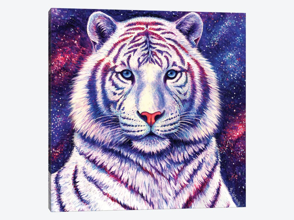 Among the Stars - Galaxy Tiger by Rebecca Wang 1-piece Canvas Artwork