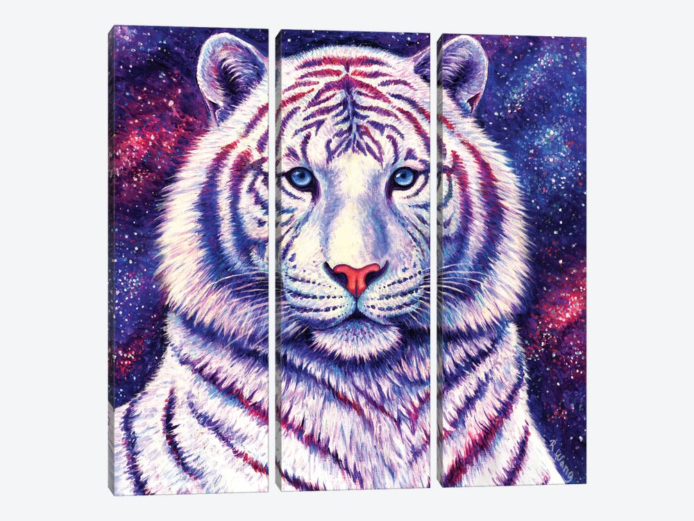 Among the Stars - Galaxy Tiger by Rebecca Wang 3-piece Canvas Art