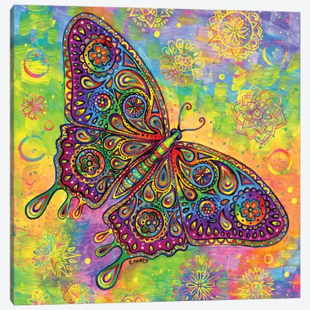 Paisley Butterfly Canvas Print #RBW47} by Rebecca Wang Canvas Art