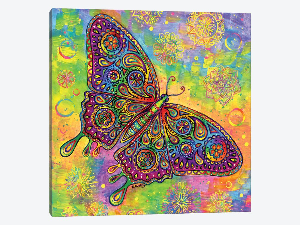 Paisley Butterfly by Rebecca Wang 1-piece Canvas Artwork