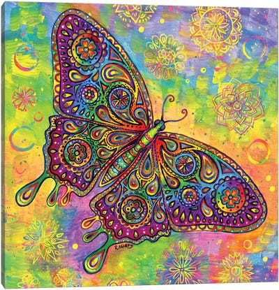 Paisley Butterfly Canvas Art Print