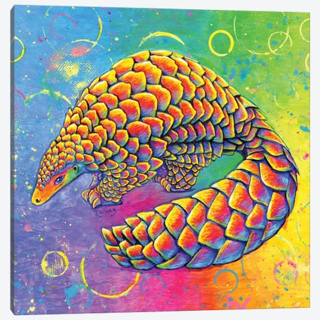 Psychedelic Pangolin Canvas Print #RBW48} by Rebecca Wang Canvas Art Print