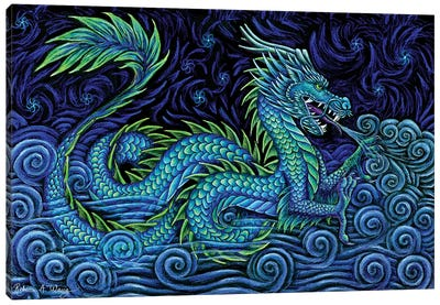 Chinese Azure Dragon Canvas Art Print