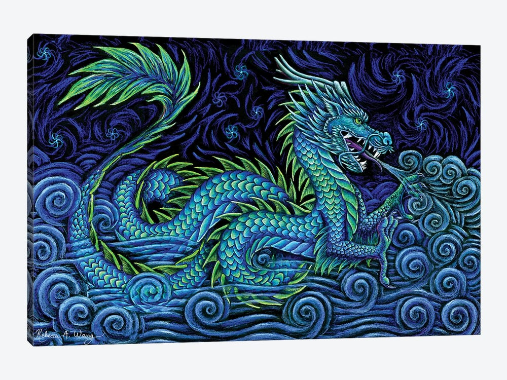 Chinese Azure Dragon by Rebecca Wang 1-piece Canvas Print