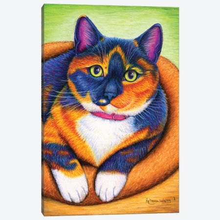 Colorful Calico Canvas Print #RBW54} by Rebecca Wang Canvas Art Print
