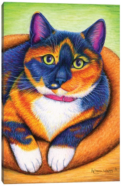 Colorful Calico Canvas Art Print