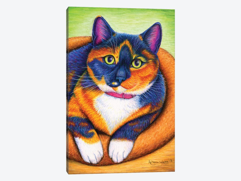 Colorful Calico by Rebecca Wang 1-piece Canvas Wall Art