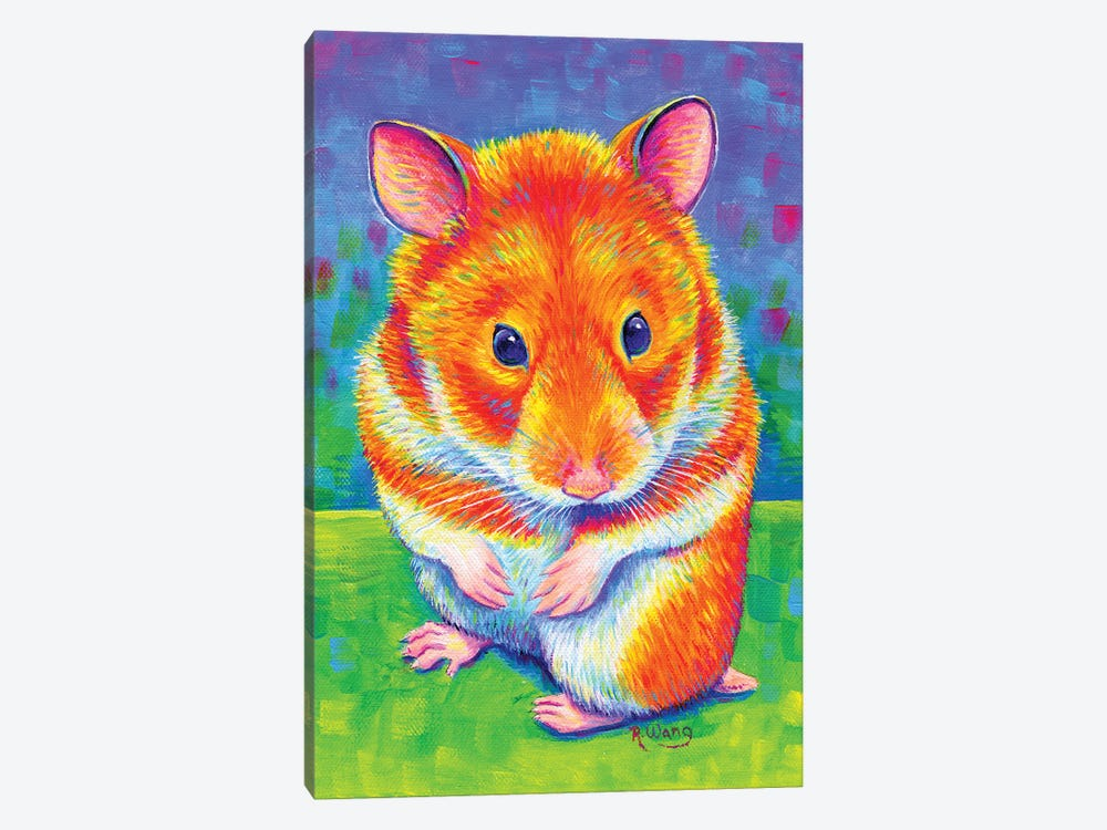 Rainbow Hamster by Rebecca Wang 1-piece Canvas Artwork