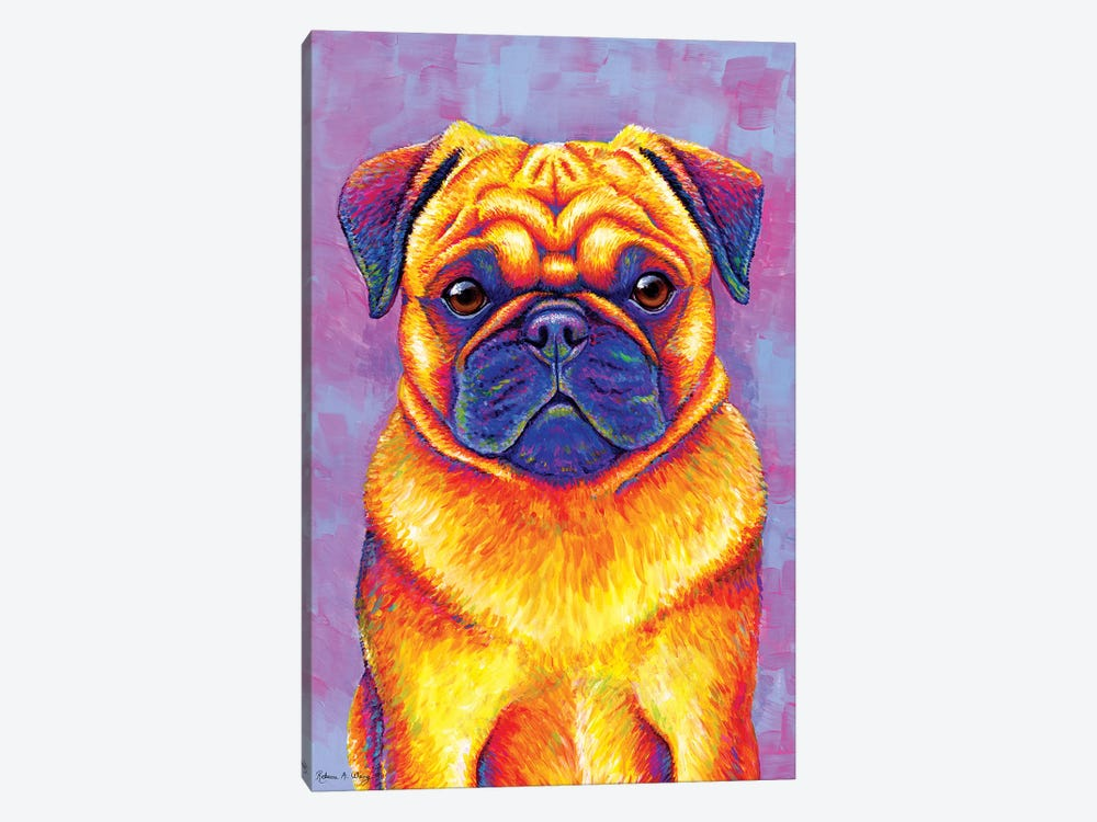 Comic Relief - Pug by Rebecca Wang 1-piece Canvas Art