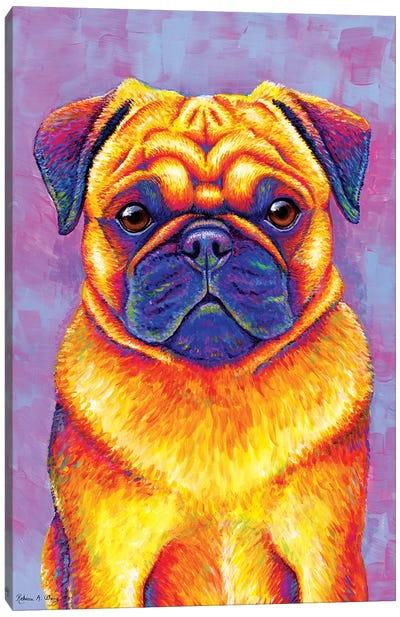 Comic Relief - Pug Canvas Art Print