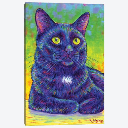 Little House Panther Canvas Print #RBW60} by Rebecca Wang Art Print