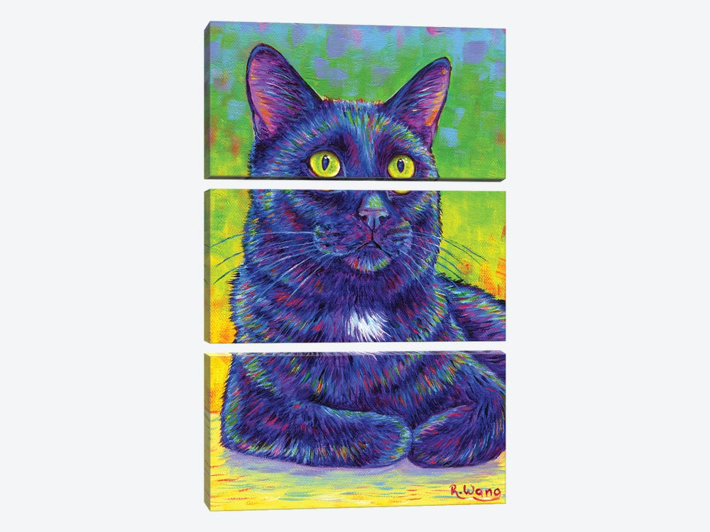 Little House Panther by Rebecca Wang 3-piece Canvas Print