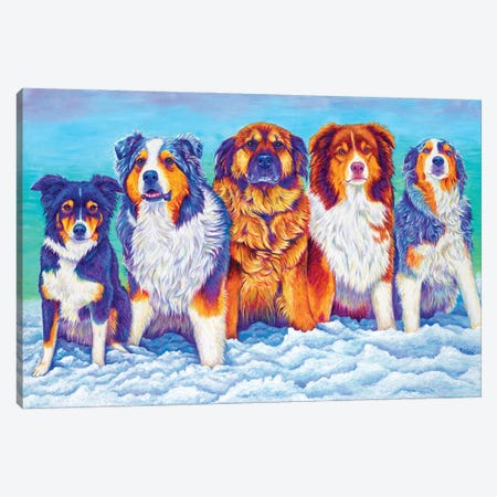 The Gang's All Here Canvas Print #RBW69} by Rebecca Wang Canvas Print
