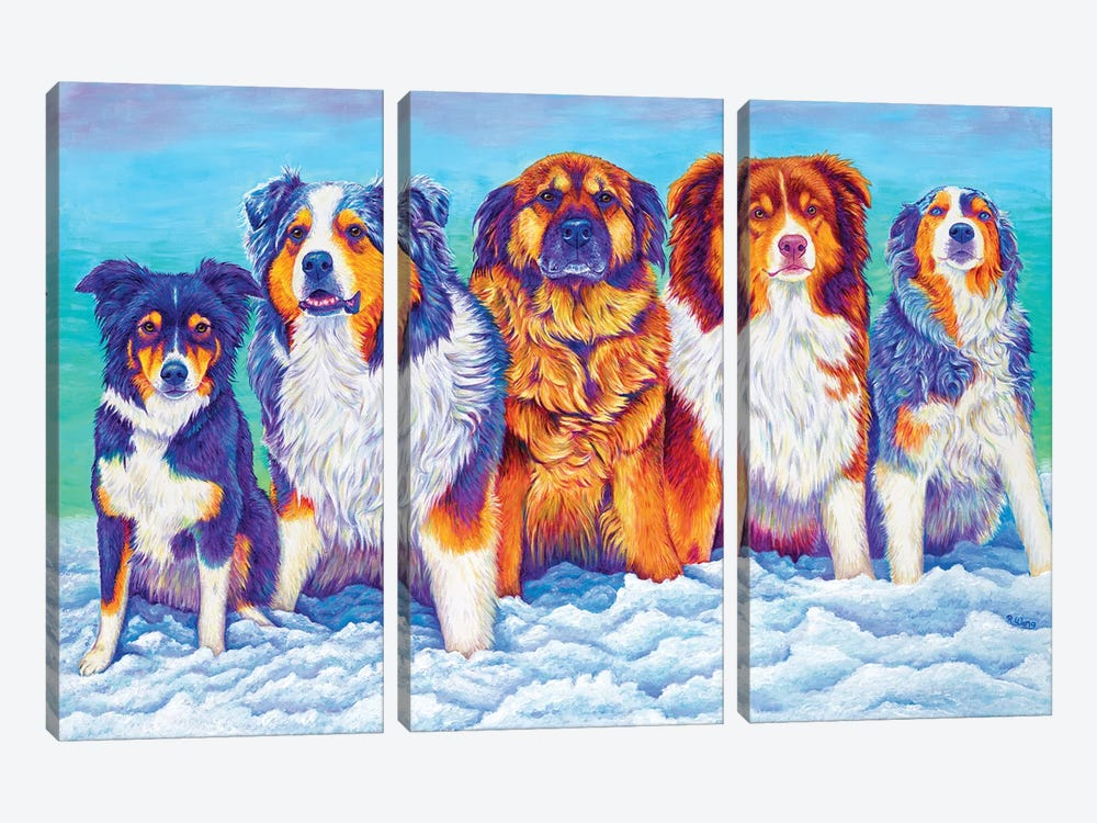 The Gang's All Here by Rebecca Wang 3-piece Canvas Art