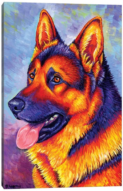Courageous Partner - German Shepherd Dog Canvas Art Print