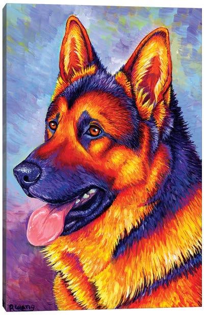 Courageous Partner - German Shepherd Dog Canvas Art Print