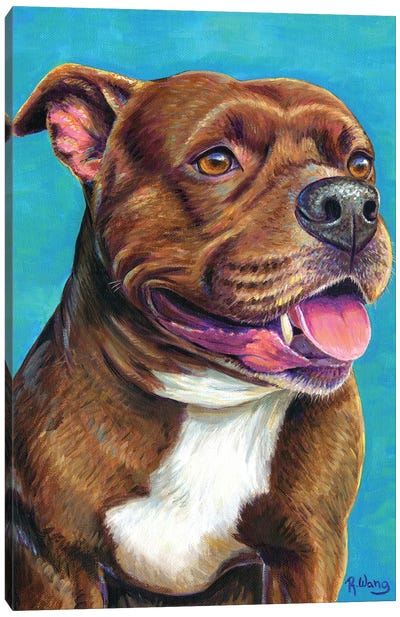 Staffordshire Bull Terrier Dog Canvas Art Print