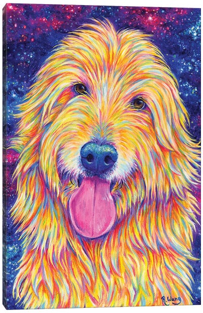 Starry Goldendoodle Canvas Art Print