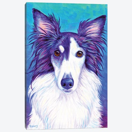 Colorful Silken Windhound Canvas Print #RBW85} by Rebecca Wang Canvas Art