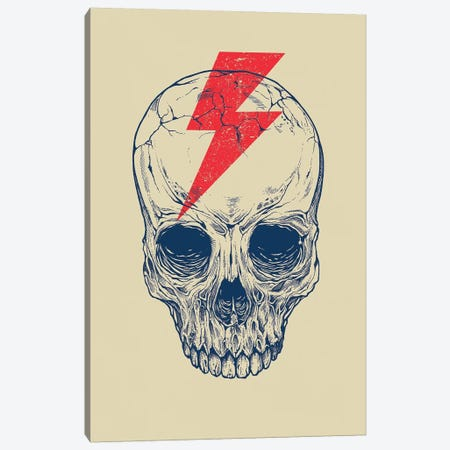 Skull Bolt Canvas Print #RCA10} by Rachel Caldwell Canvas Art Print