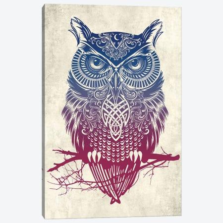 Warrior Owl Canvas Print #RCA11} by Rachel Caldwell Canvas Art Print